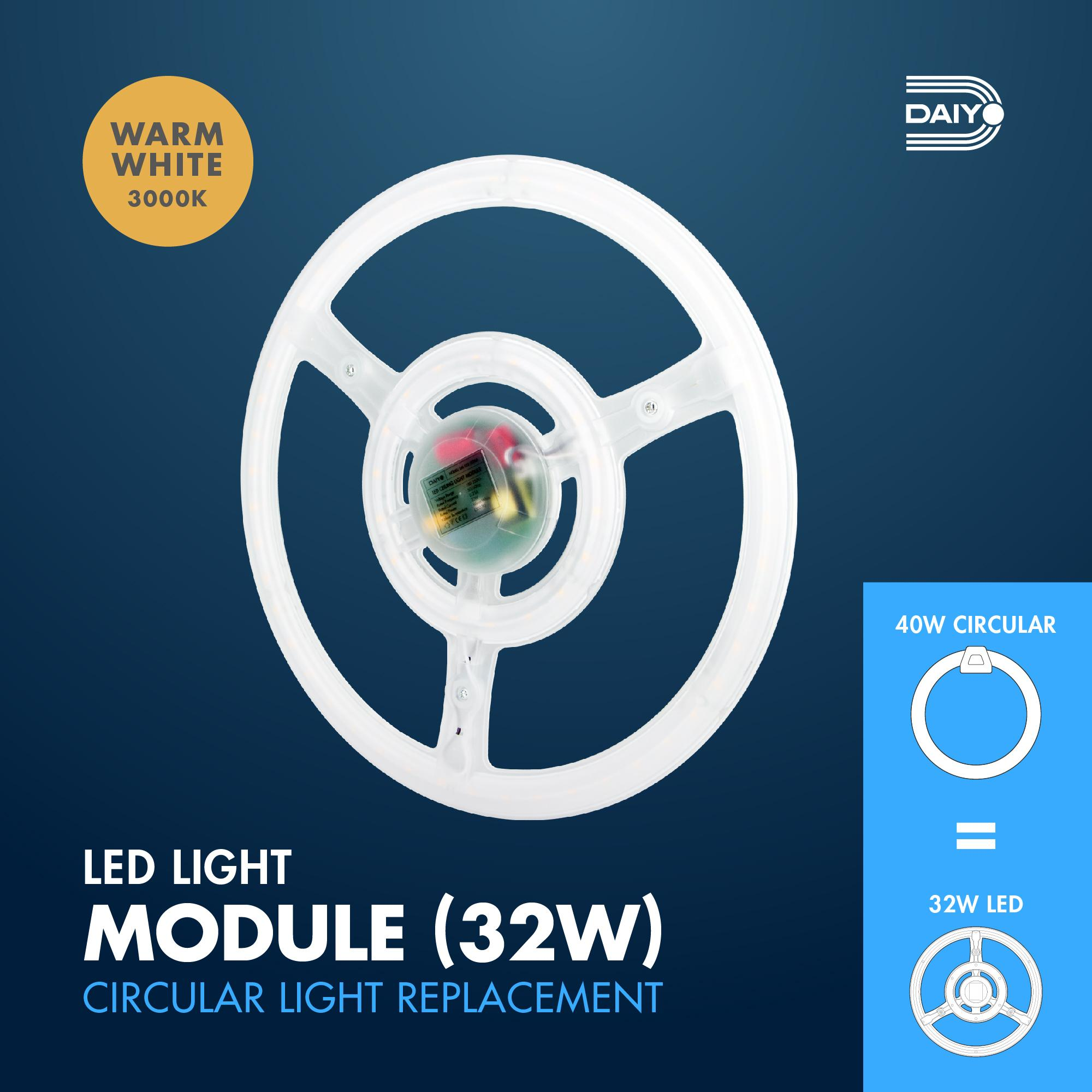 32W LED Round Shape Circular Magnetic Base Ceiling Panel (Warm White)