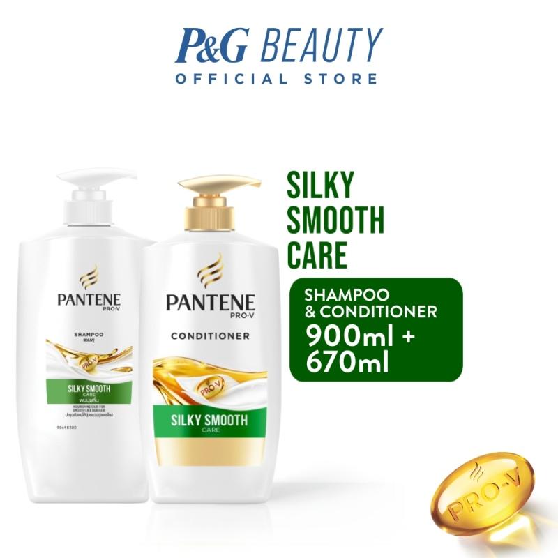 Buy [Bundle of 2] Pantene Silky Smooth Care Shampoo 900ml + Conditioner 670ml Singapore