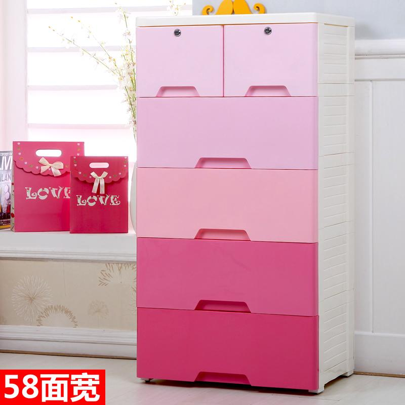 Large Size Thick Drawer-type Storage Cabinet Locker Plastic Cabinet Infant Child Baby Closet 5 Layer Chest of Drawers
