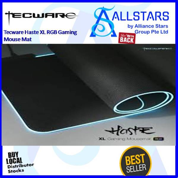 (ALLSTARS : We are Back / Gaming Promo) Tecware HASTE XL RGB Gaming Mousemat / Mouse Pad (Dimension 800x300x3mm)
