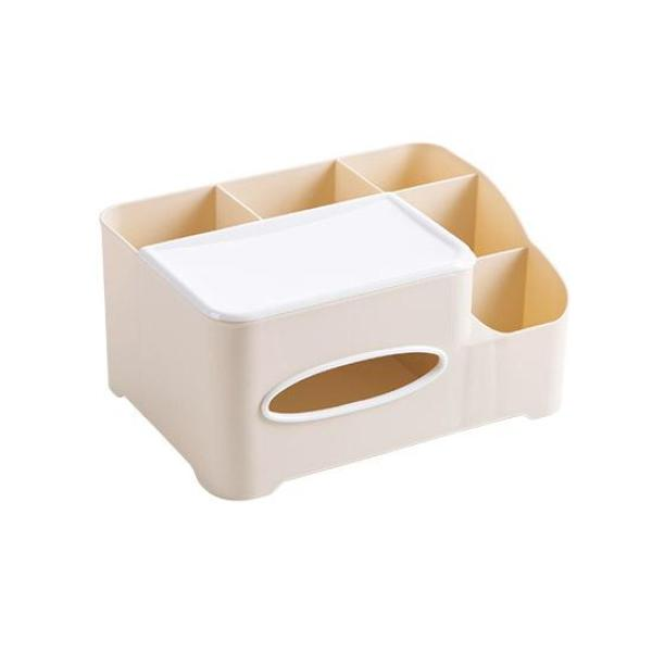 Simple Multi-functional Desktop Tissue Storage Box Creative Living Room Plastic Paper Napping Box Desktop Remote Control Storage Box