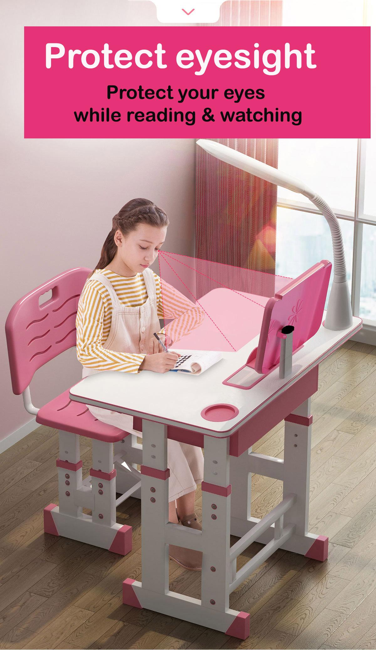 kid study table/study desk/adjustable study table set/desk/kid table/ protect eyes and vertebrae