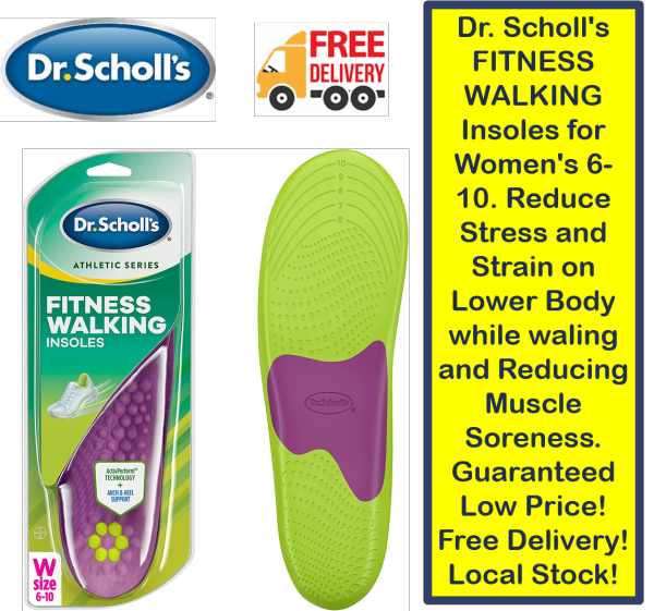 Buy Dr. Scholls FITNESS WALKING Insoles for Womens 6-10. Reduce Stress and Strain on Lower Body while waling and Reducing Muscle Soreness. Guaranteed Low Price! Free Delivery! Local Stock! Singapore
