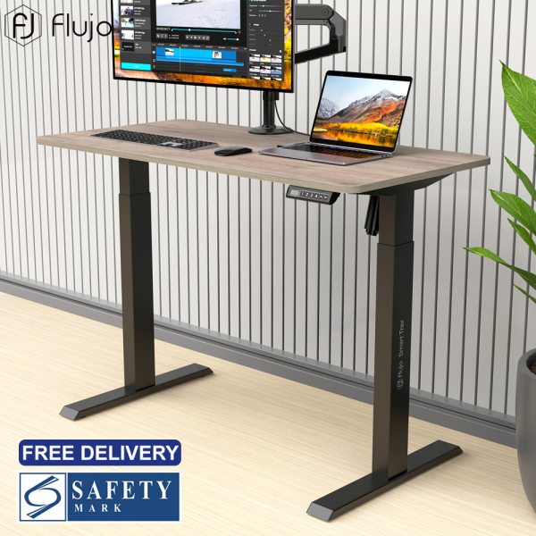 [Pre-Order] Flujo SmartARC Ergonomic Desk Height Adjustable Study Table Sit Standing Home Office Electric Lifting Chiropractic Table, 4 Memories Height Adjustment Control Panel, Anti-Collision System, Low Noise, 600x1200 Desktop-Ship from 20th November
