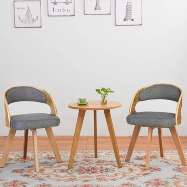 Nordic Solid Wooden Table Chair Set 360 Degree Turning Chair Balcony Living Room One Table Two Chair Set
