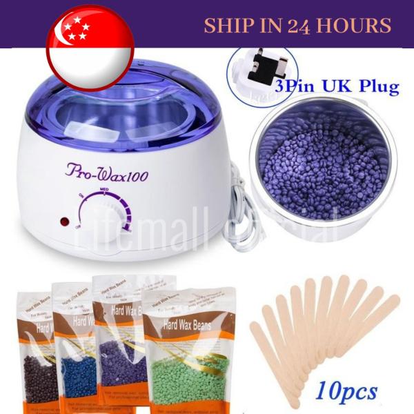 Buy 500cc Electric Wax Machine Pot Warmer Heater Kit + 100g Waxing Beans + 10Pcs Depilatory Spatulas Singapore