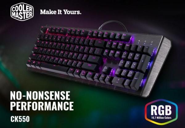 COOLER MASTER MASTERKEYS CK550 RGB GATERON ( RED / BROWN / BLUE ) MECHANICALGAMING KEYBOARD CoolerMaster Singapore