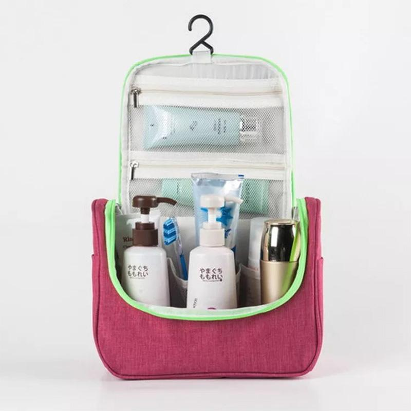Toiletry Bag Travel Toiletries Makeup Bag Sturdy Hanging Organizer for  Women Men 84b68c62e2117