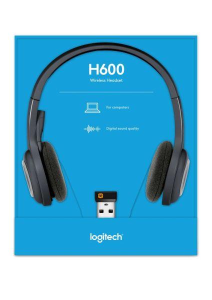 Logitech H600 Wireless Headset for computers via USB Receiver Singapore
