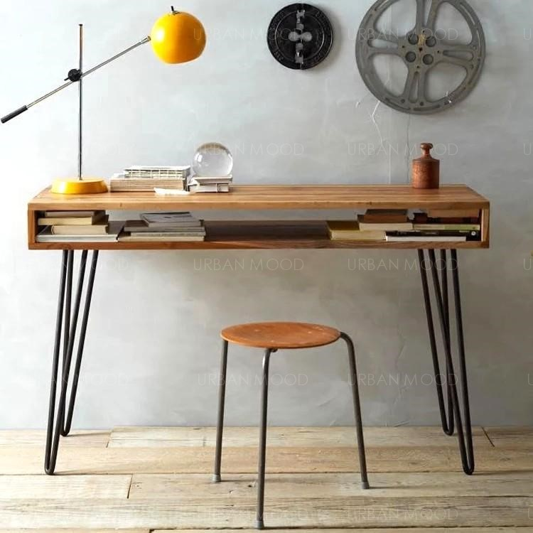 JOEL Modern Rustic Wooden Office Study Table