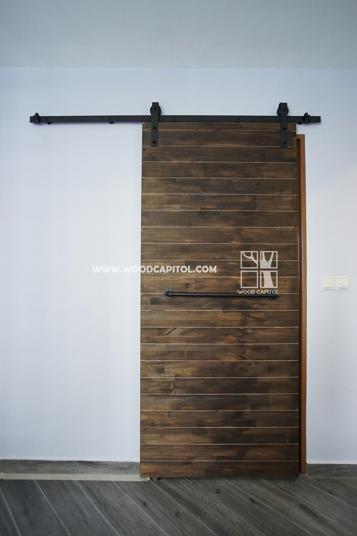 Wood Capitol Plank Sliding Barn Door