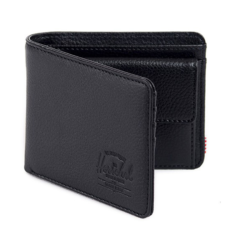 Herschel Supply Co. hank coin genuine leather wallet with Coin pocket -Black Pebble