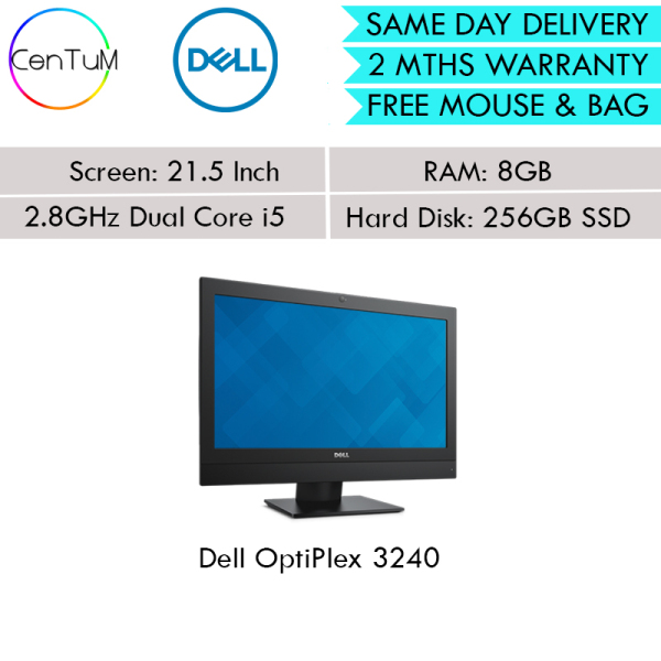[Same Day Delivery] Refurbished Dell OptiPlex 3240 21.5 Inch Core i5 8GB 256SSD Win10 [Up to 24 Months Warranty]