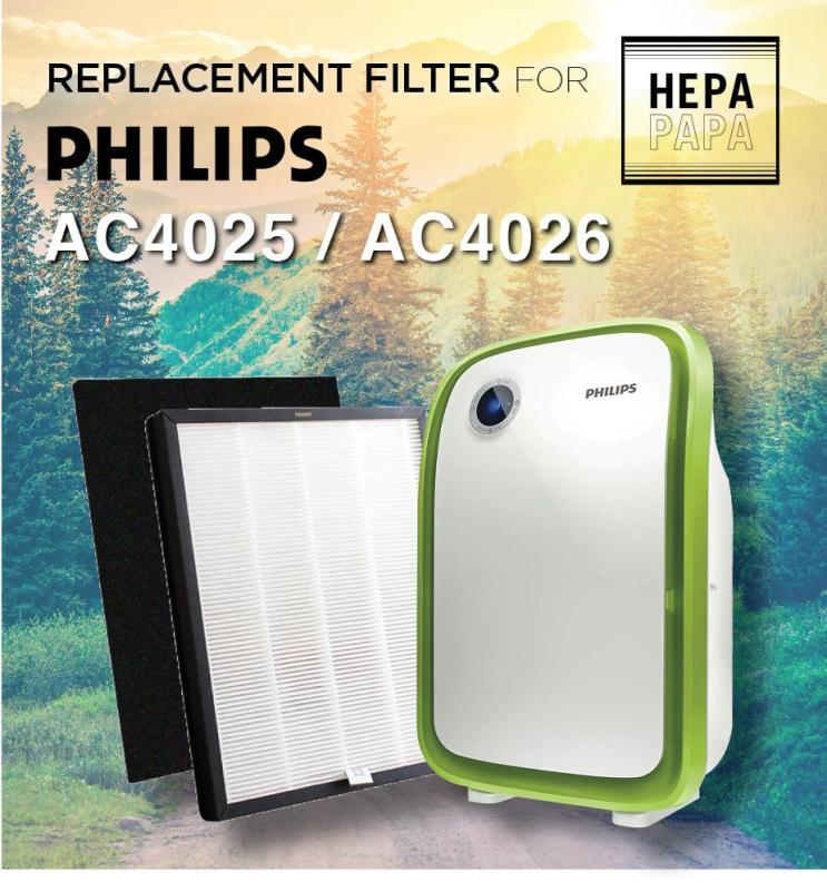 Replacement HEPA and Carbon Filters for Philips AC4025 and AC4026 - AC4104 [Free Alcohol Swab] [SG Seller] [7 Days Warranty] Singapore