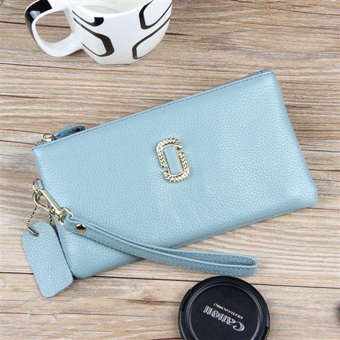 Genuine Leather Clutch Bag Female 2019 New Style Cool Fashion Clutch Bag Korean Style Large Capacity Womens Wallet Trendy Bag