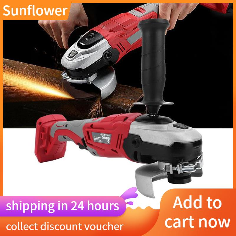 [Ready stock]Sunflower Cordless Li-lon Angle Grinder Handheld Rechargeable Household Grinding Machine with Wrench