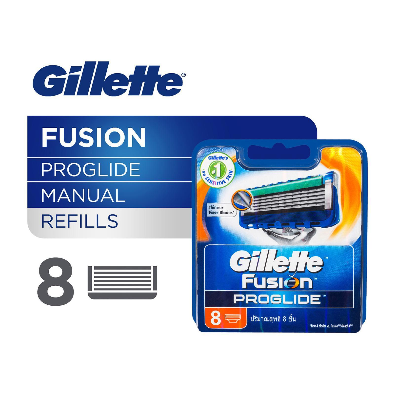 Gillette Fusion ProGlide Manual Razor Cartridge Refills - 8PCS