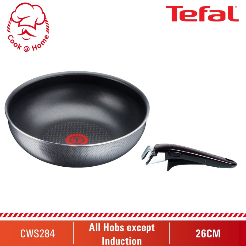 Tefal Ingenio Elegance Wok Pan + Ingenio Removable Handle (L23177 + L99331) Singapore