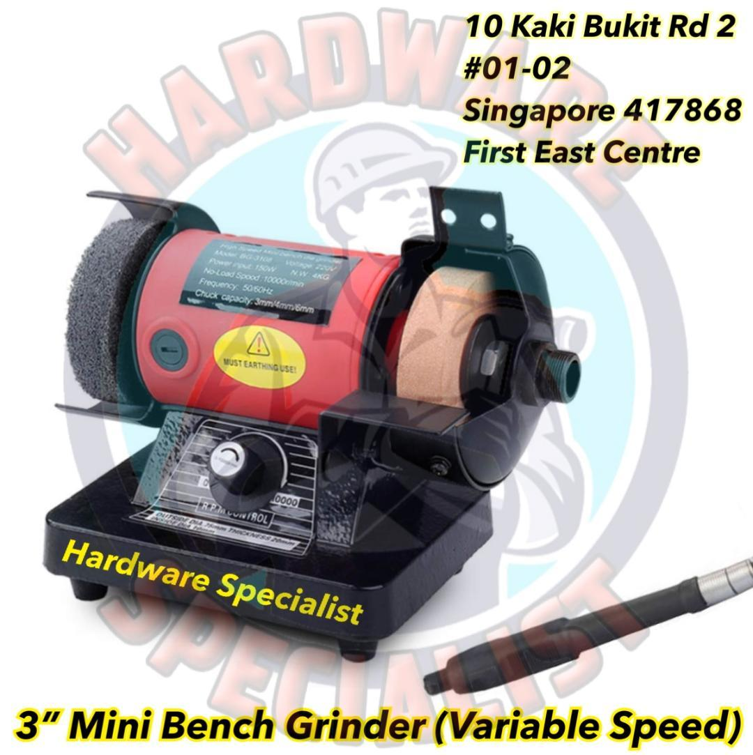 Hardware Specialist 75mm Mini Bench Grinder