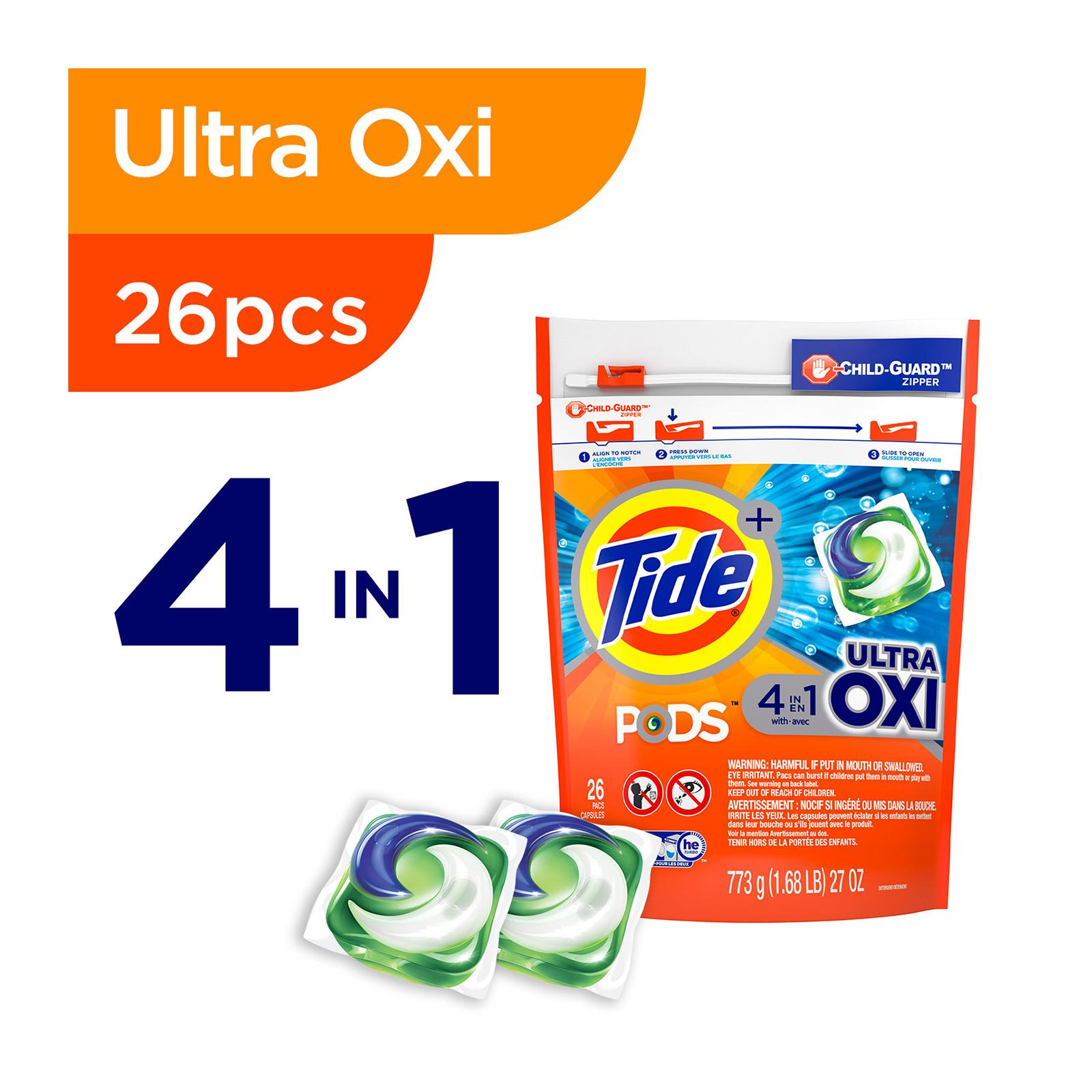 Tide Pods Ultra Oxi Laundry Detergent Pacs 26 PCS