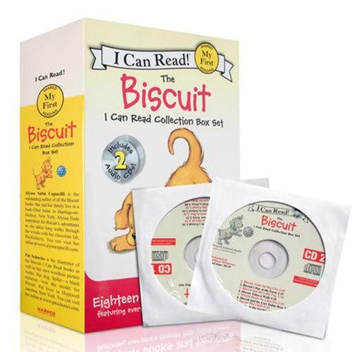 I CAN READ Collection Box Set - The Biscuit (18 books collections + 02 CD)