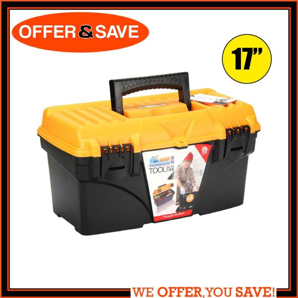 ONS Heavy Duty Tool Box With Removal Tray 17  (Yellow/Black)