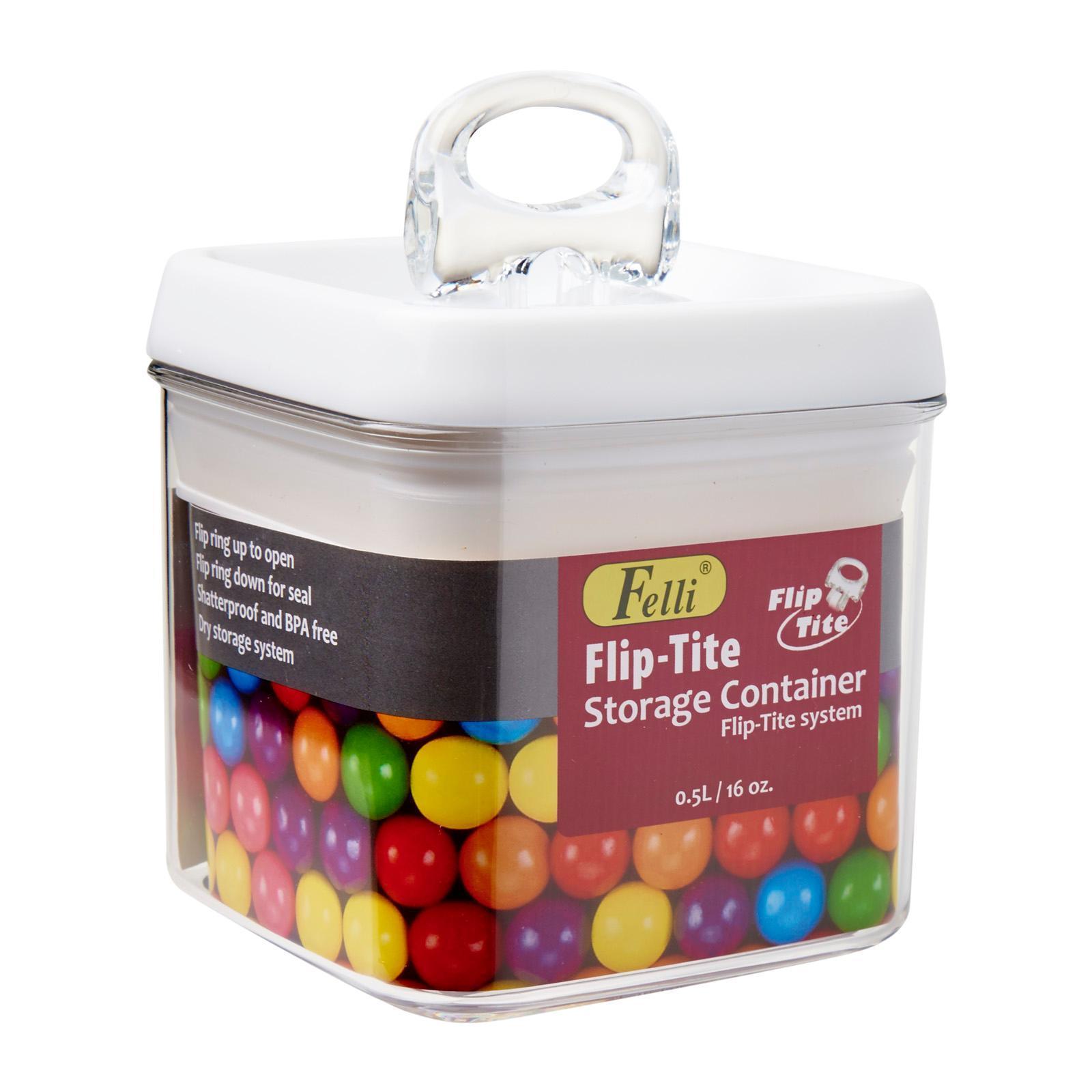 Felli Flip Tite Square Container 0.5L