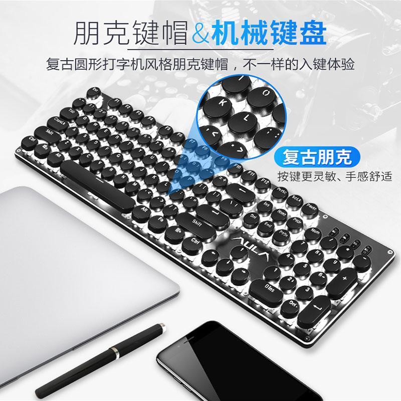 AULA Mechanical Keyboard Keyclick Black Shaft Alternate Action Or Ergonamic Red Shaft Chicken Game Desktop PC Cable ACE Punk Keyboard Singapore
