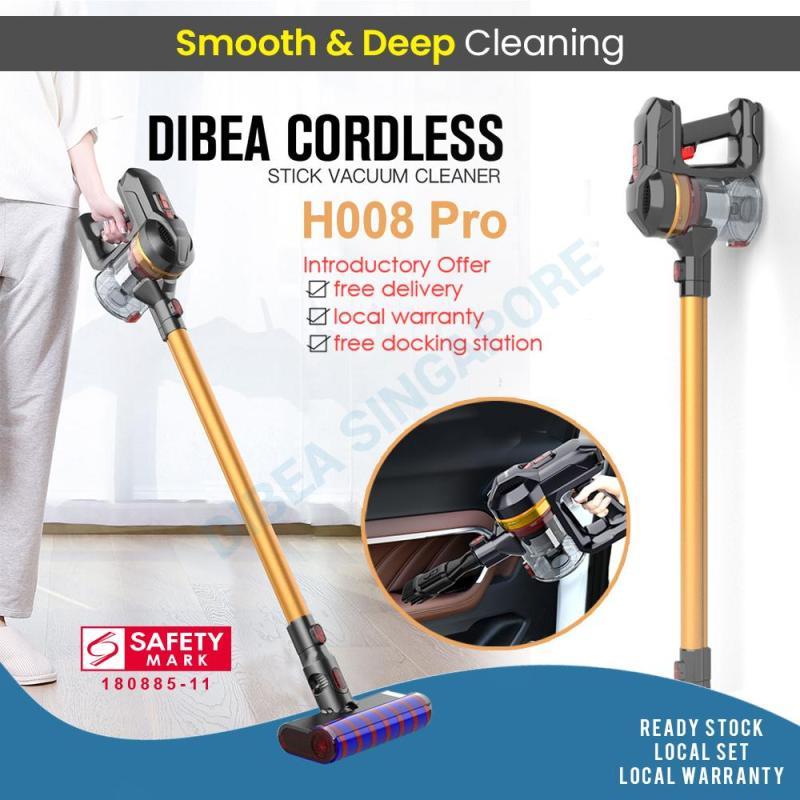 Dibea H008 Pro Cordless Vacuum Cleaner Handheld Stick Large Capacity Household Appliances With Vacuum Cleaner Brush Singapore