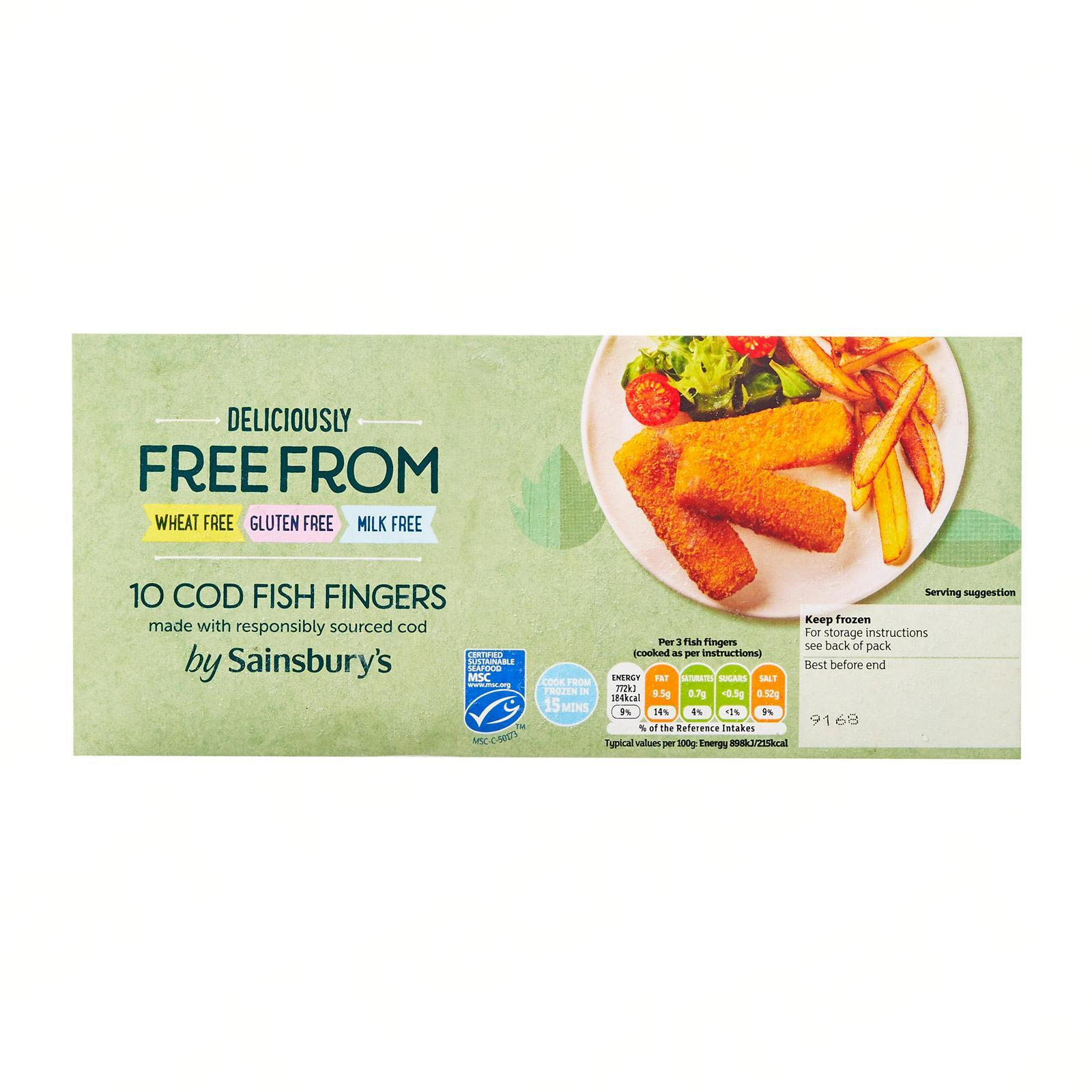 Sainsbury's Cod Fish Fingers - Frozen