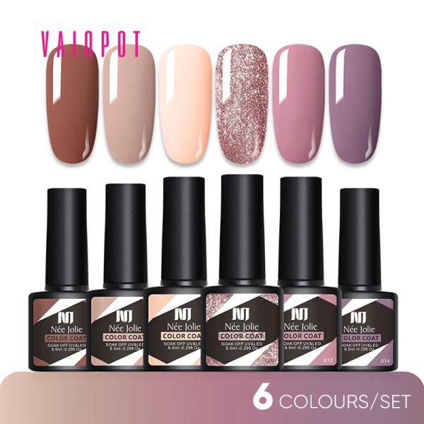Buy [Vainpot-SG] UV Gel Nail Polish Sets - 6 Colours/ Set - 8.5ml Singapore