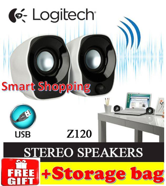 [Free Gift] Logitech Z120 Stereo Speakers USB Spk Z 120 Clear sound Audio (better than Creative)