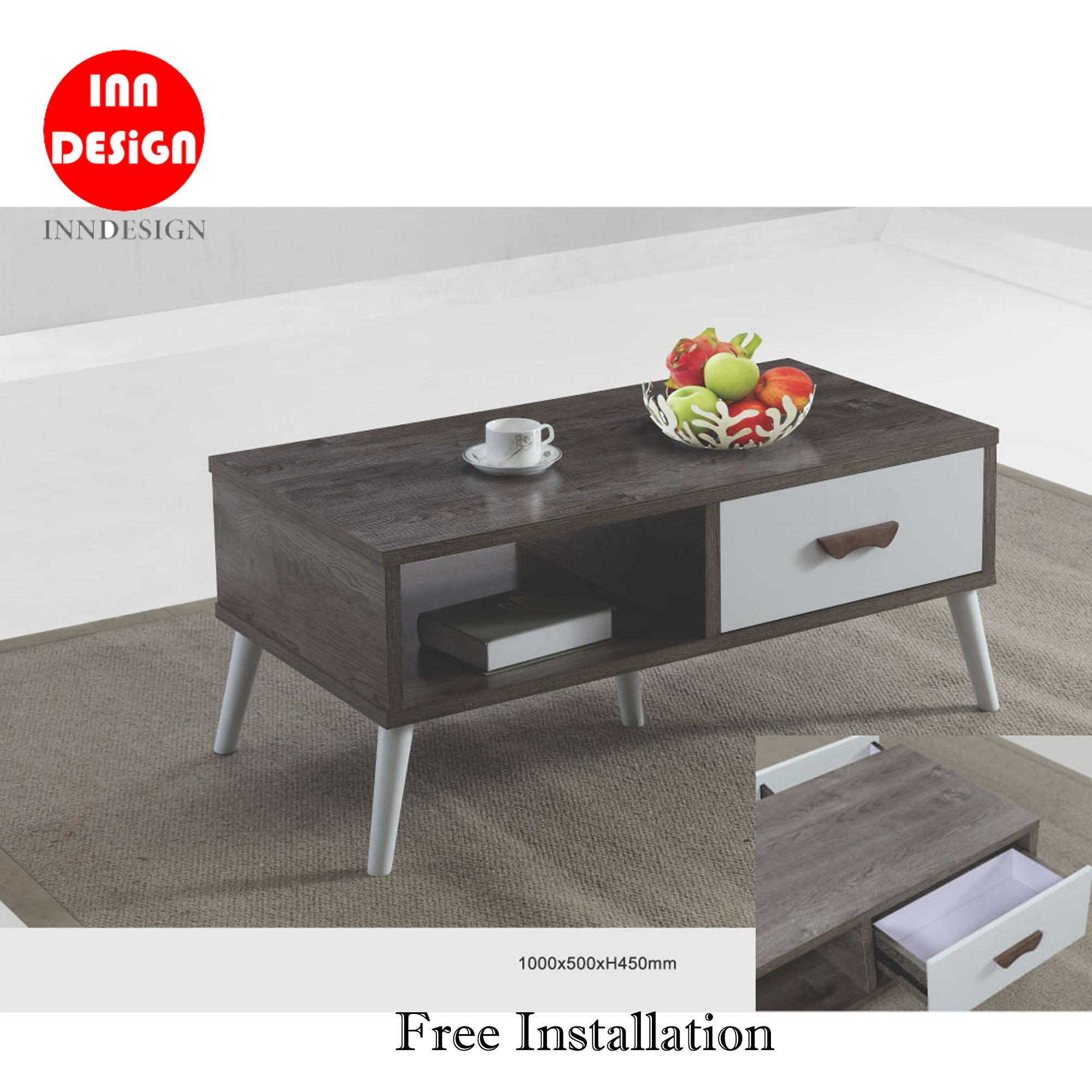 Edi Coffee Table With 2 Drawers (Free Installation)