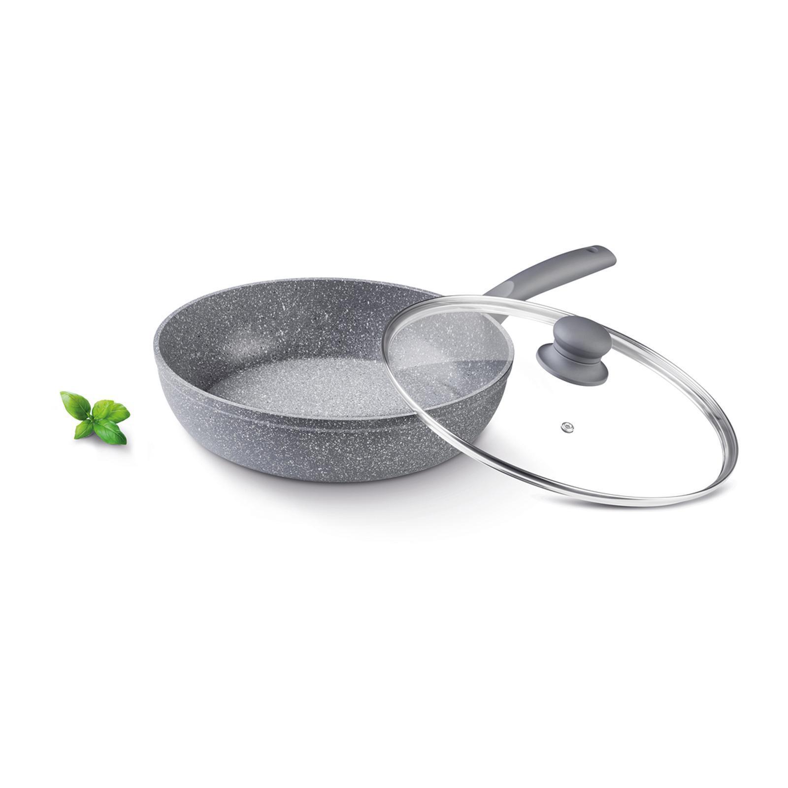 Lamart Deep Pan W/ Lid Stone 28Cm (Grey)