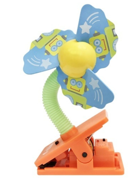 Lucky Baby Safety Clip On Fan With Ultrasonic Mosquito Repellent - Robot Singapore