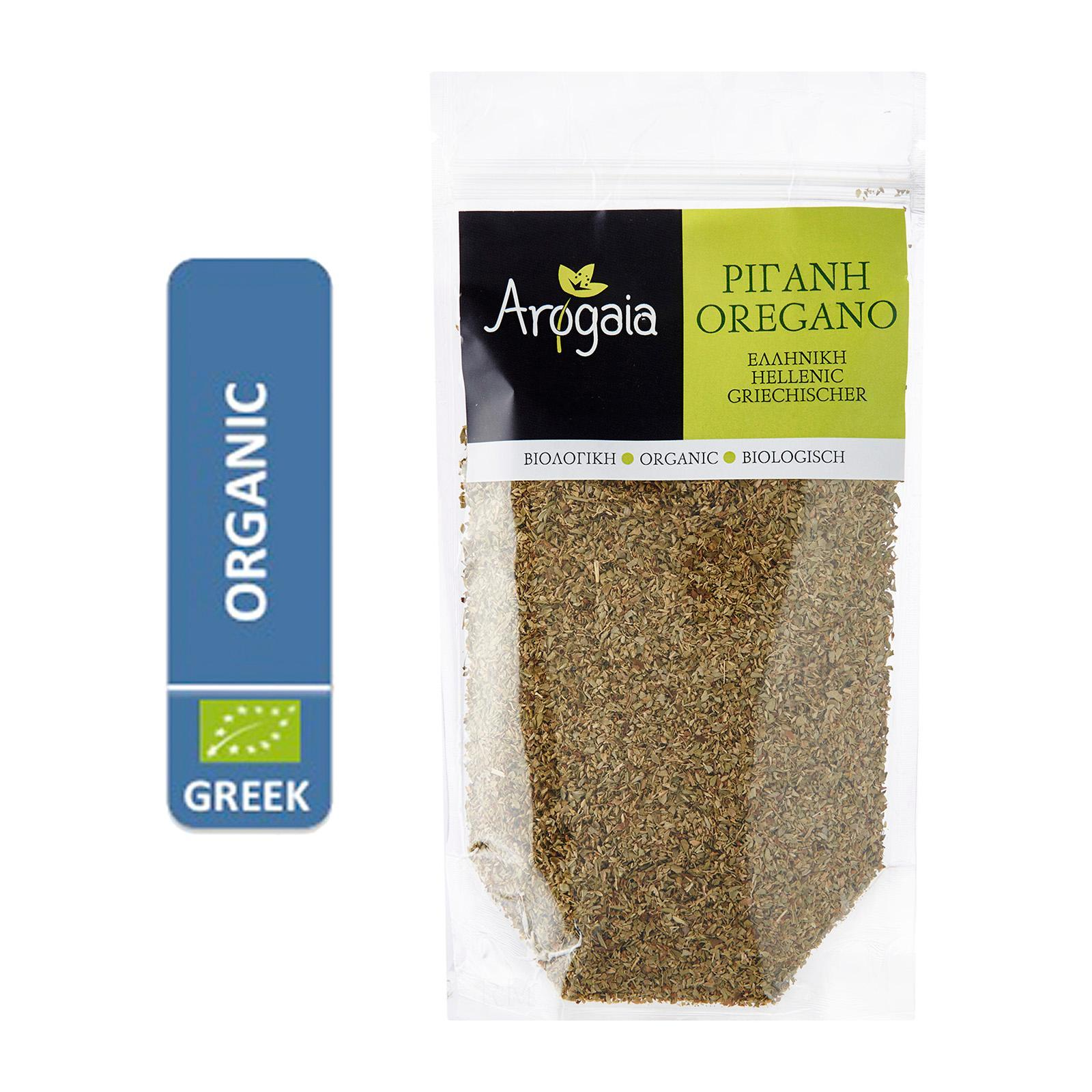 Arogaia Organic Greek Oregano In A Re-Sealable Bag - By Agora Products