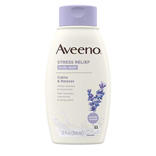 Buy (USA)Aveeno Stress Relief Body Wash With Lavender, Chamomile And Ylang-Ylang Oils, 12 Fl. Oz. (Pack of 3) Singapore