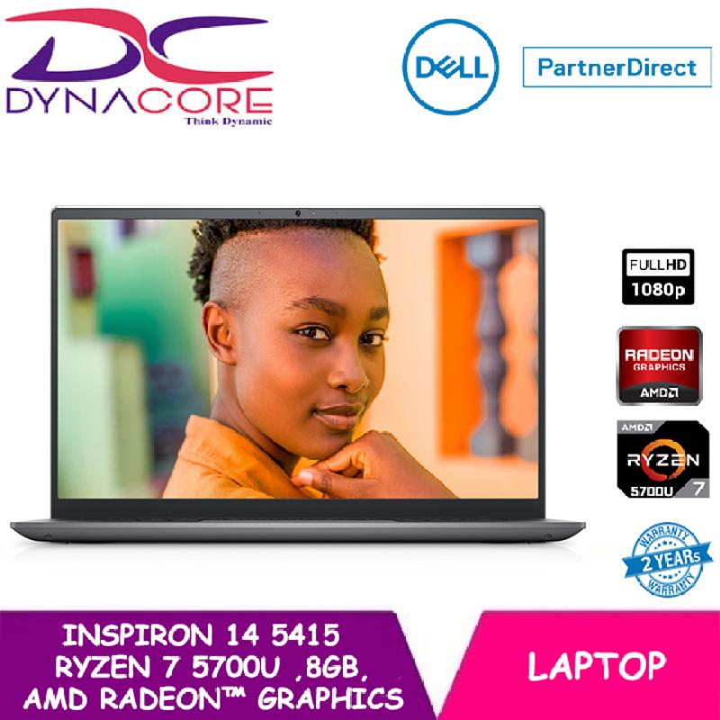 【READY STOCK】DYNACORE - DELL Inspiron 14 Laptop 5415 14 FHD | Ryzen™ 7 5700U | 8GB RAM | 512GB SSD | AMD Radeon™ Graphics | WIN 10 HOME | 2 YEARS WARRANTY