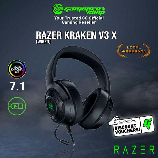 Razer Kraken v3 X USB 7.1 Surround Sound Gaming Headset (2Y)