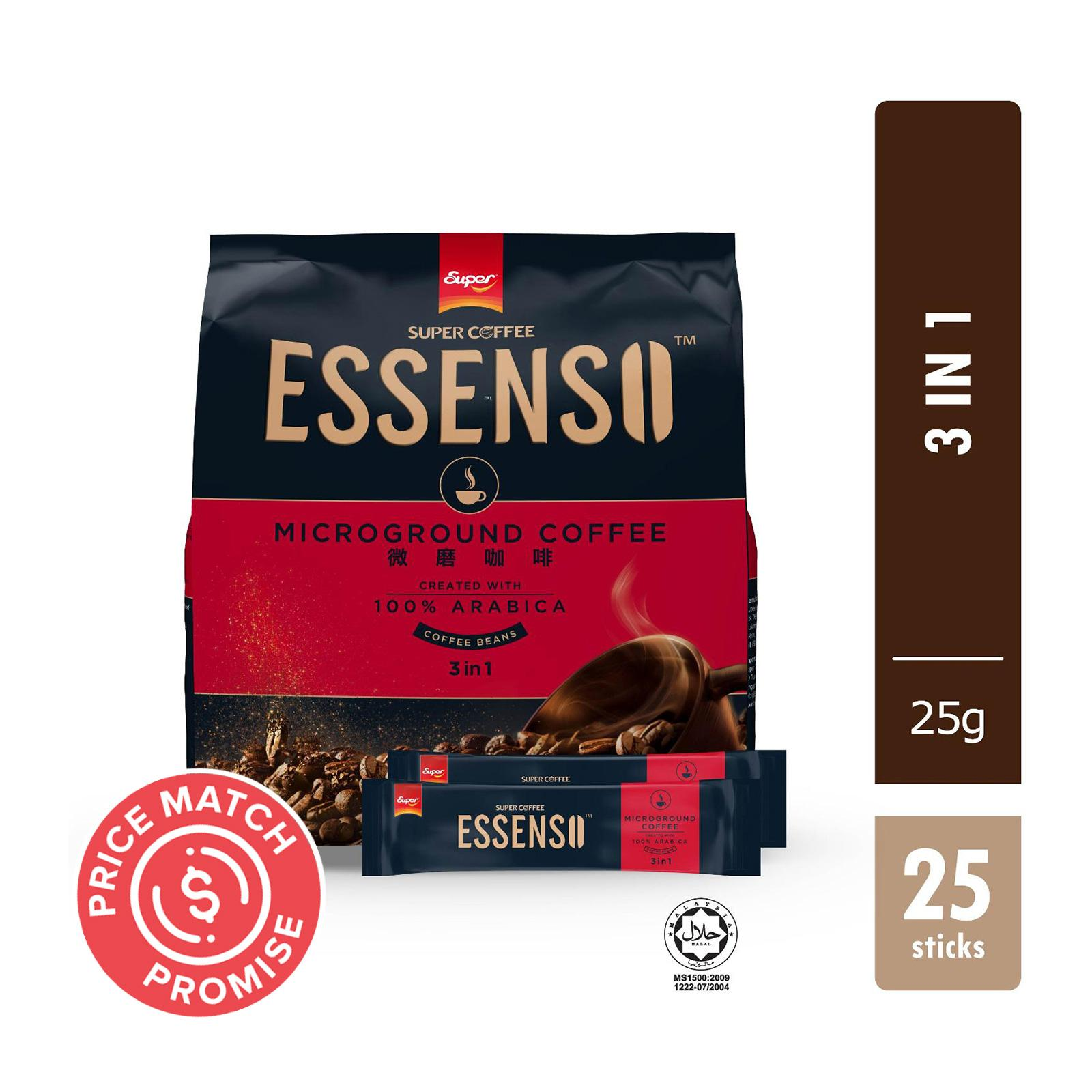 SUPER Instant MicroGround Coffee Essenso 3-In-1 25sX25g