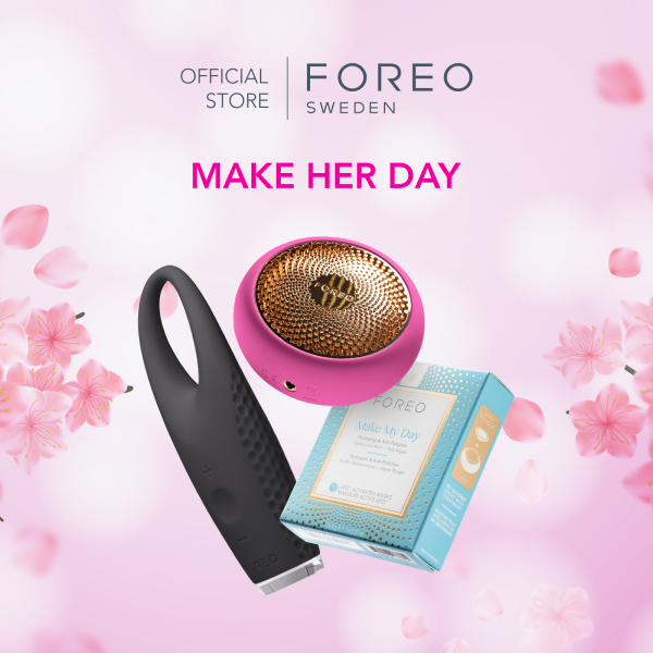 Buy [Mothers Day Exclusive] FOREO Make Her Day with UFO LED Light Mask Device + IRIS Eye Massager + Make My Day Mask Singapore