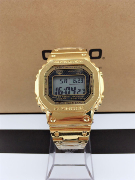 100% Original  G shock GMW B5000 Stainless steel men watch digital 200M Water Resistant Shockproof and Waterproof World Time LED Auto Light Wist Sports Watches with 2 Year Warranty Malaysia