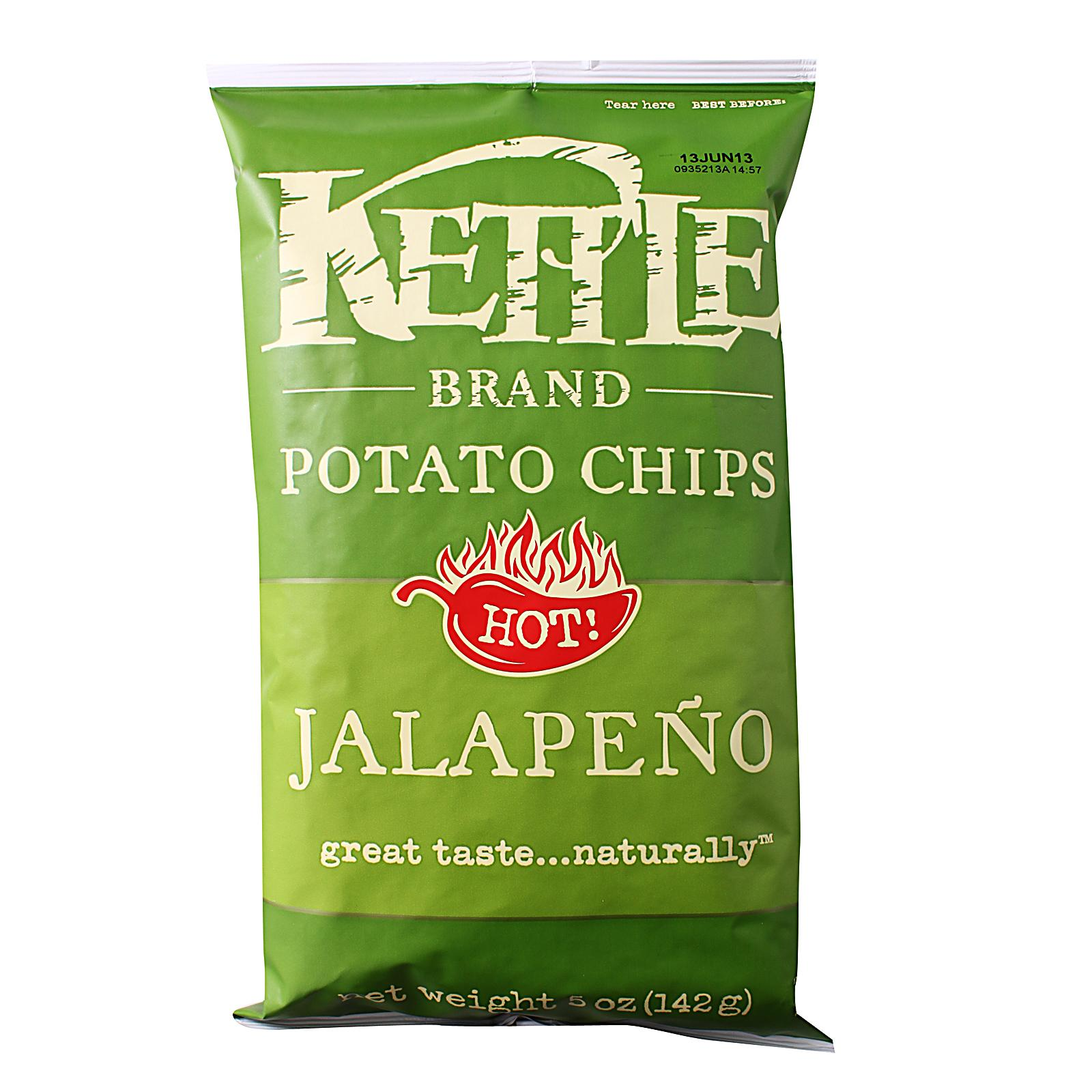 KETTLE Potato Chips Unsalted 142g