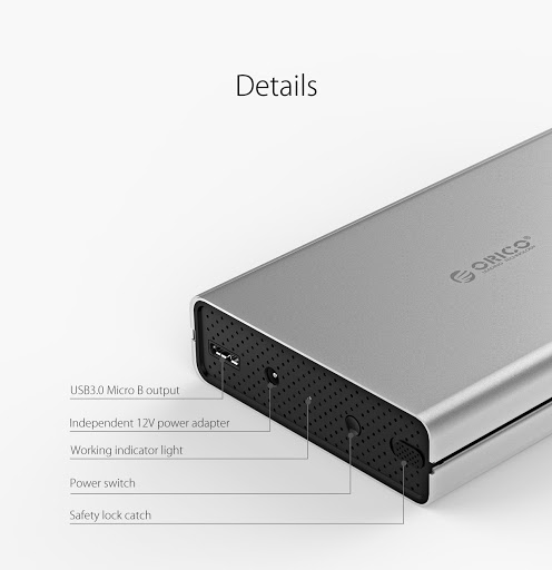Orico 3528u3 3.5 Inch External Hard Disk Box Usb 3.0 To Sata 3.0 Hdd Case Tool Free Support Uasp Protocols Hard Drive Enclosure.