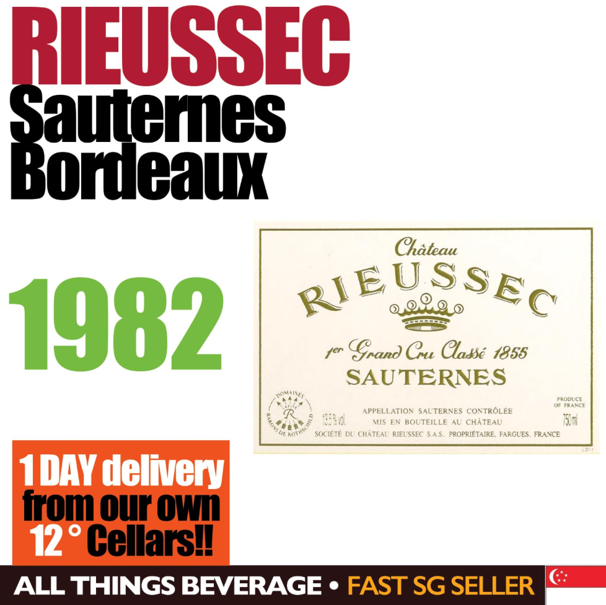 Rieussec Sauternes 1982 By All Things Beverage.