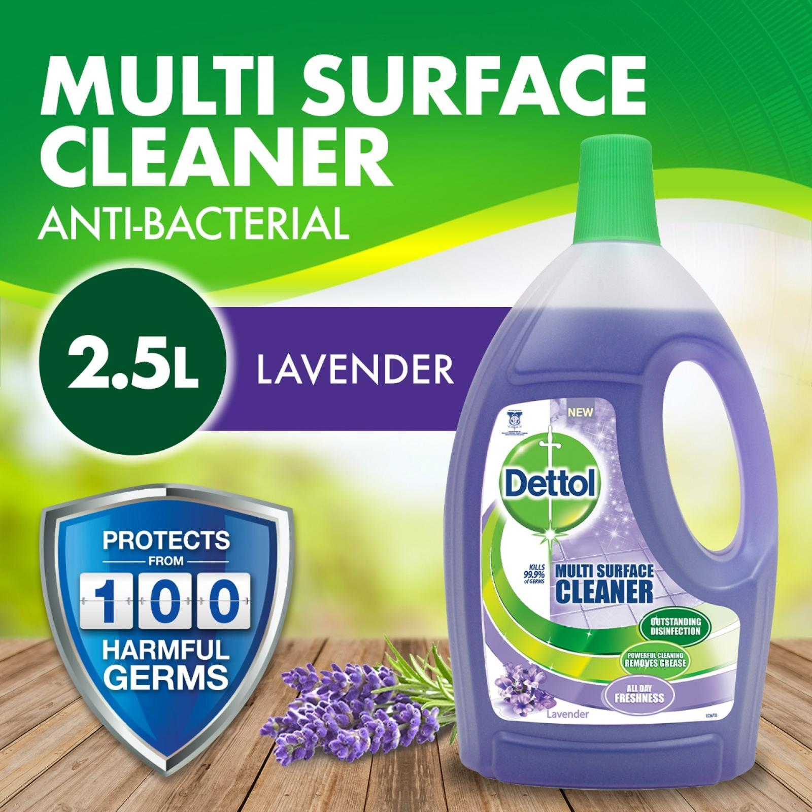 Dettol 4-in-1 Disinfectant Multi Surface Cleaner Lavender 2.5L