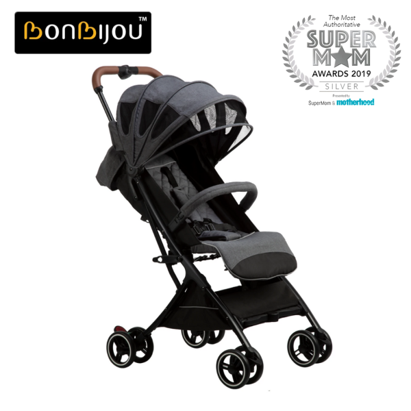 Bonbijou Luke Mini Stroller w/ Carry Bag | Travel Cabin Size Strollers | Foldable | Compact | Folding | Children Kid Toddler Newborn Infant Baby Stroller Portable Baby Pram | Lightweight | Baby Travel Stroller | Easy for Travel Singapore
