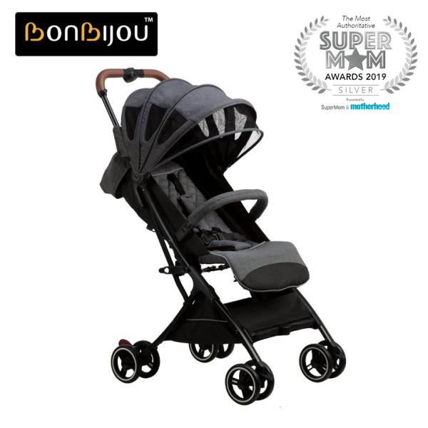 Bonbijou Luke Mini Stroller w/ Carry Bag | Travel Cabin Size Strollers | Foldable | Compact | Folding | Children Kid Toddler Newborn Infant Baby Stroller Portable Baby Pram | Lightweight | Baby Travel Stroller | Easy for Travel Singapore