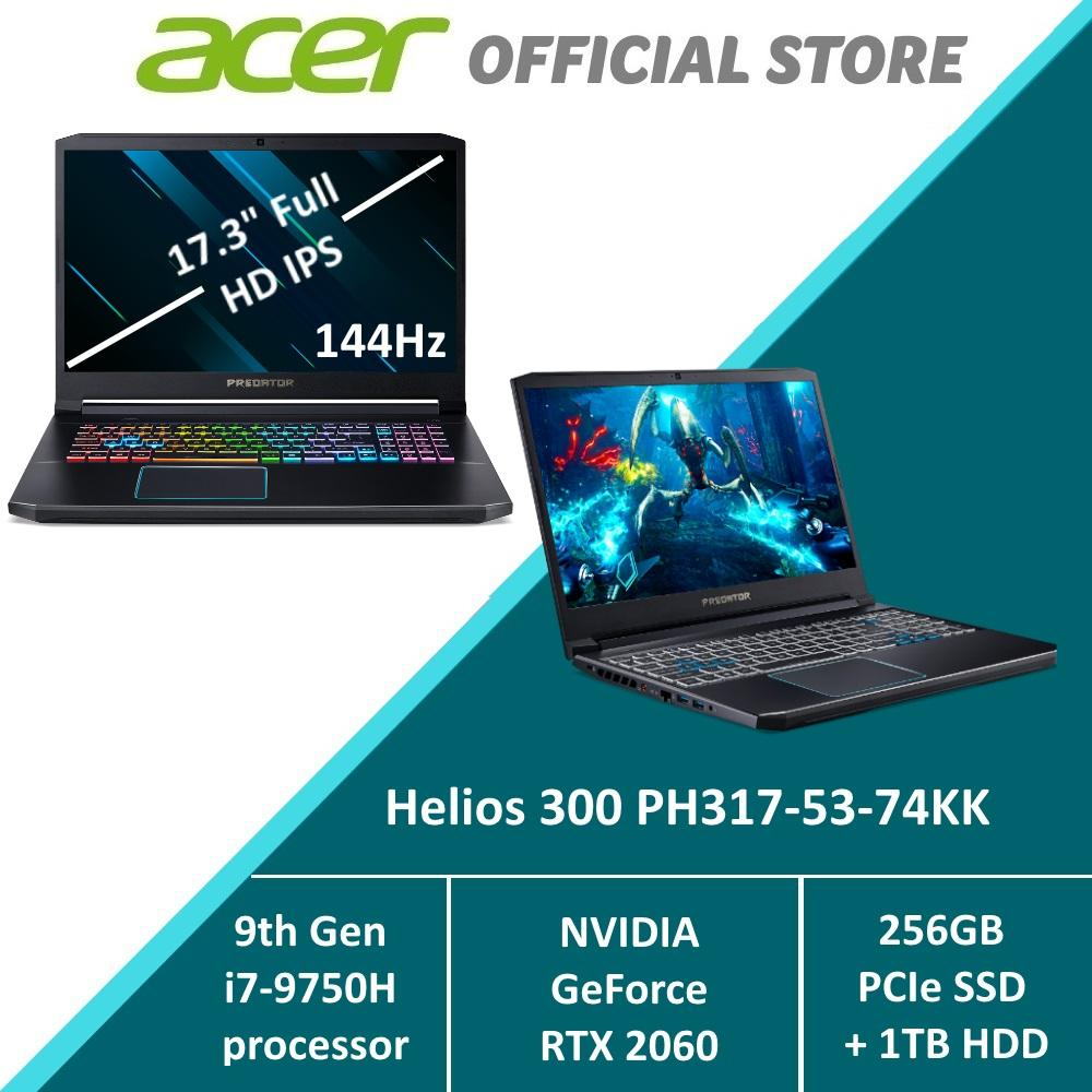 Predator Helios 300 PH317-53-74KK Gaming Laptop - RTX 2060 Graphics