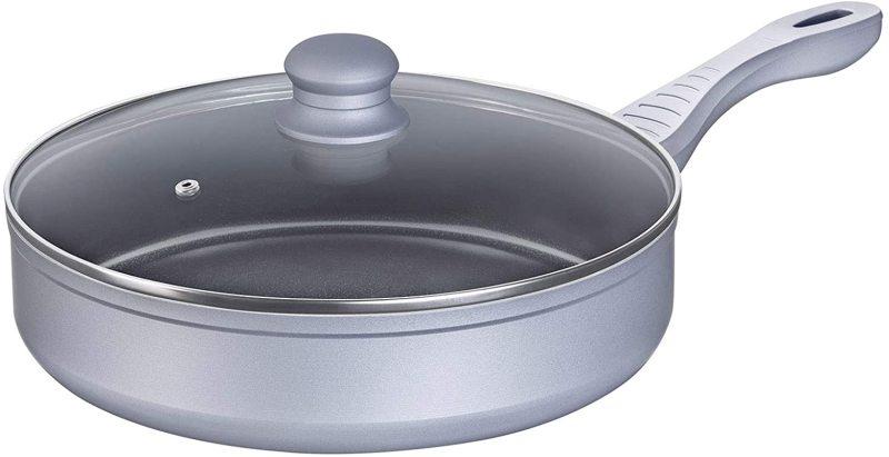 Lamart Lamart Ceramic Pan With Lid 28cm- Silver Singapore